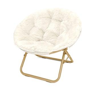 Seventeen Micromink Papasan Chair (Option: White)