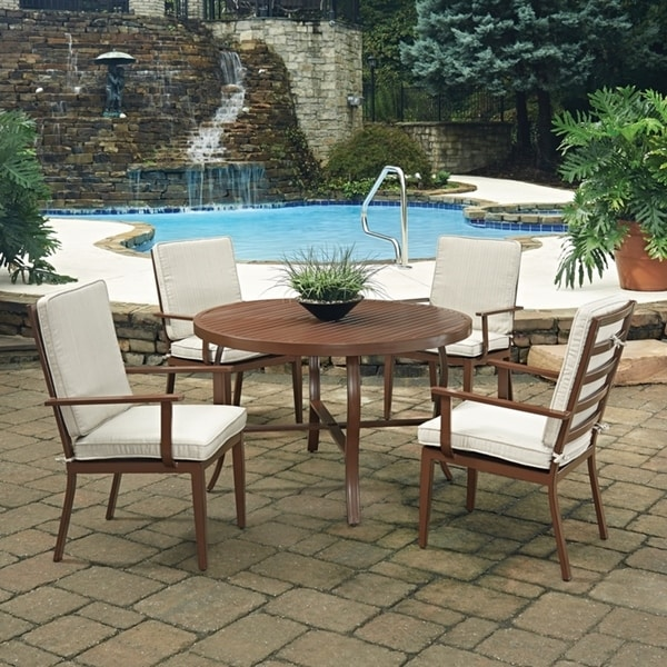 shop key west 5 pc round outdoor dining table 4 chairs by home styles free shipping today. Black Bedroom Furniture Sets. Home Design Ideas