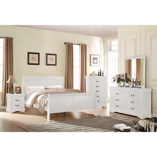 Acme Furniture Louis Philippe White 4-Piece Sleigh Bedroom Set|https://ak1.ostkcdn.com/images/products/14229930/P20821106.jpg?impolicy=medium