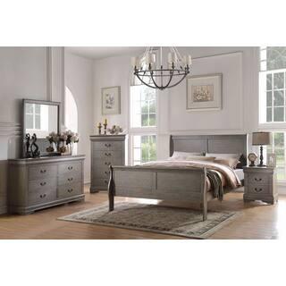 bedroom sets for kids. Acme Furniture Louis Philippe Antique Grey 4 Piece Sleigh Bedroom Set Kids  Sets For Less Overstock com