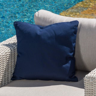 Lorie Canvas Sunbrella Throw Pillow by Christopher Knight Home (As Is Item)