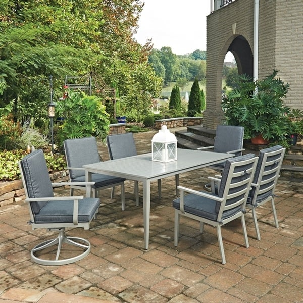 Shop South Beach 7 Pc Rectangular Outdoor Dining Table With 4 Arm