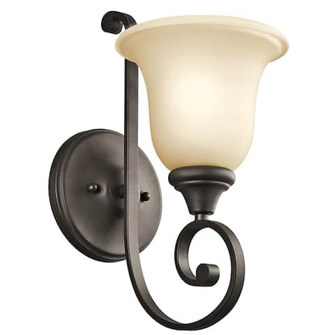Gracewood Hollow Feraoun Collection 1-light Olde Bronze LED Wall Sconce