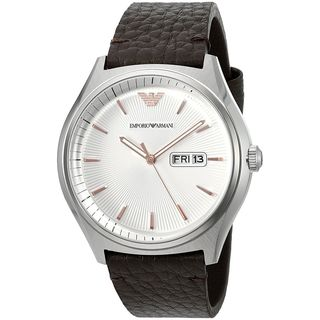 Emporio Armani Men's AR1999 'Dress' Brown Leather Watch
