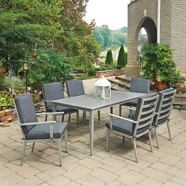 Shop South Beach 7 Pc. Rectangular Outdoor Dining Table& 6