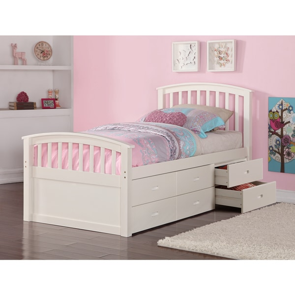 Shop Donco Kids Twin 6 Drawer Storage Bed In Dark