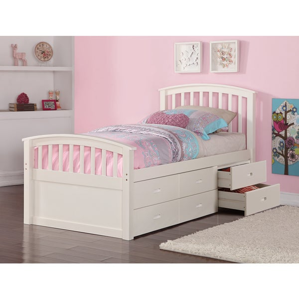 Shop Donco Kids Twin 6 Drawer Storage Bed In Dark Cappuccino Or