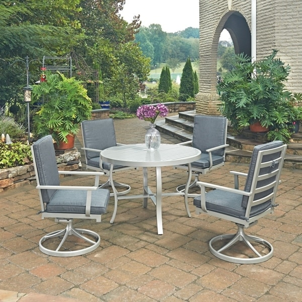 Shop South Beach 5 Pc Round Outdoor Dining Table Amp 4