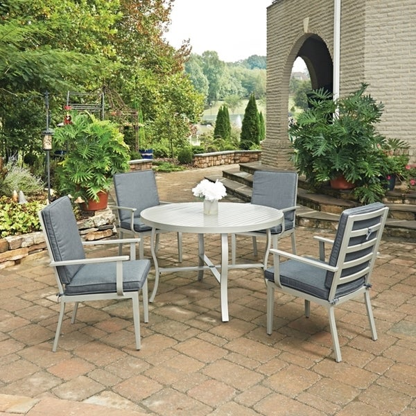 Shop South Beach 5 Pc. Round Outdoor Dining Table& 4