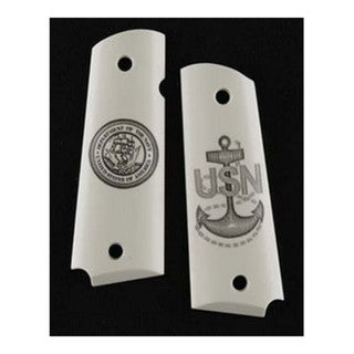 Hogue Scrimshaw Grips Navy Insignia