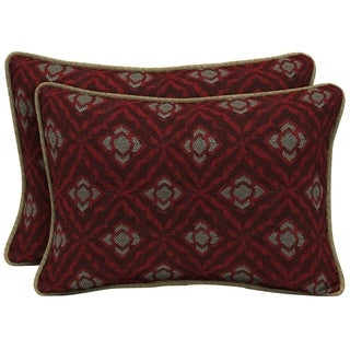 Bombay Outdoors Red Oversize Lumbar Pillow with Welt