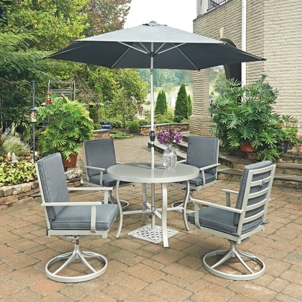Shop South Beach 7 Pc. Round Outdoor Dining Table& 4