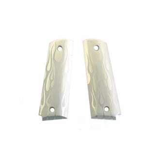 Hogue Extreme Series Grips Flames Aluminum, Clear Anodized, Government