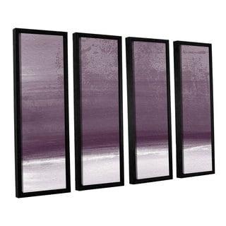 Linda Woods's 'Amethyst Shoreline' 4 Piece Floater Framed Canvas Set