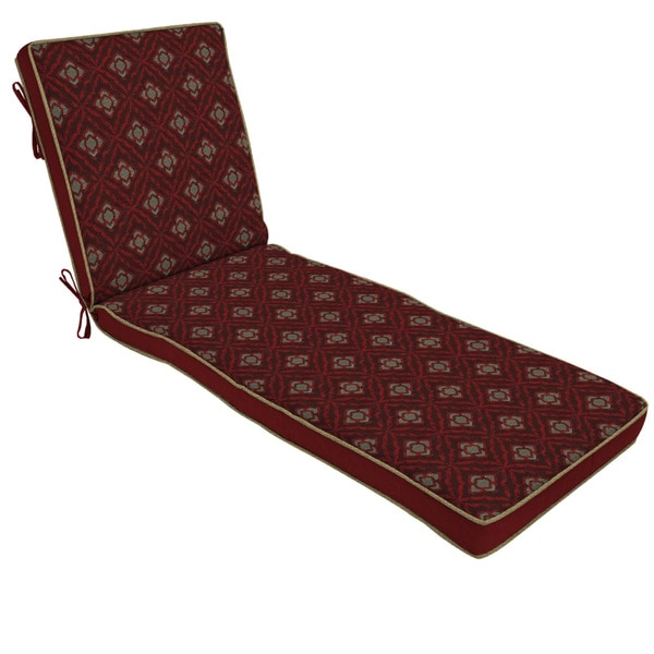 Bombay Outdoors Red Chaise Cushion