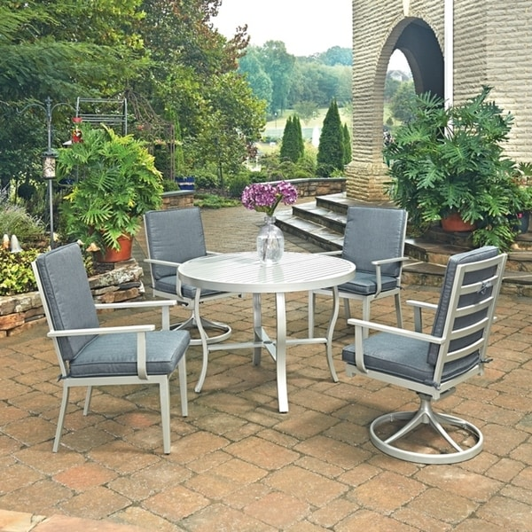 Shop South Beach 5 Pc. Round Outdoor Dining Table With 2