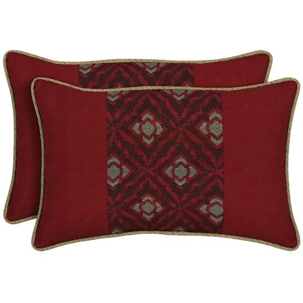 Bombay Outdoors Red Pieced Face Lumbar Pillow (Set of 2)