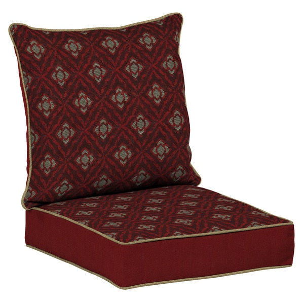 Bombay Outdoors Red Deep Seat Cushion Set