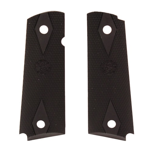 Hogue Colt Government Rubber Grip Panels, Checkered with Diamonds Black