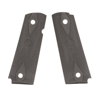 Hogue Colt Government Rubber Grip Panels, Checkered with Diamonds Pewter