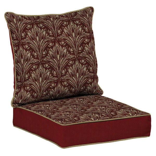 Bombay Outdoors Red Snap Dry Deep Seat Cushion Set