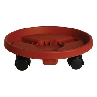 Bloem Round Plant Caddie Saucer, 12-inch, Terra Cotta