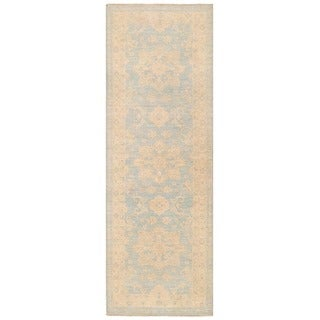 Handmade Herat Oriental Afghan Over-dyed Oushak Wool Runner - 2'8 x 7'9 (Afghanistan)