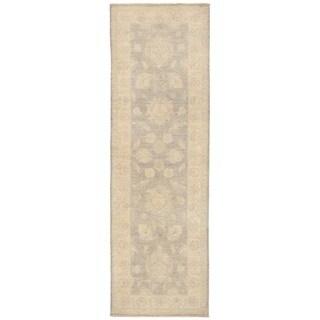 Handmade Herat Oriental Afghan Over-dyed Oushak Wool Runner - 2'7 x 8'2 (Afghanistan)