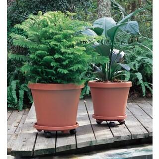 Bloem Round Plant Caddie Saucer, 14-inch, Terra Cotta