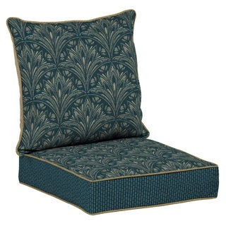 Bombay Outdoors Blue Snap Dry Deep Seat Cushion Set