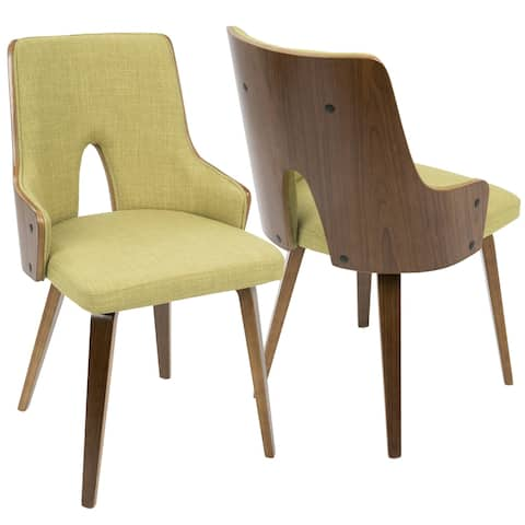 LumiSource Stella Mid-Century Modern Padded Dining/Accent Chair (Set of 2)