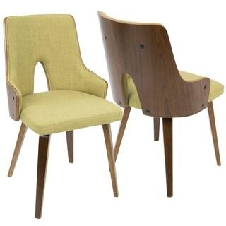 LumiSource Stella Mid-century Modern Padded Dining Chairs (Set of 2)