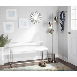 LumiSource Fuji Contemporary Dining / Entryway Bench