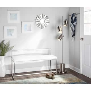 Fuji Contemporary Dining / Entryway Bench in Faux Leather|https://ak1.ostkcdn.com/images/products/14230399/P20821589.jpg?impolicy=medium