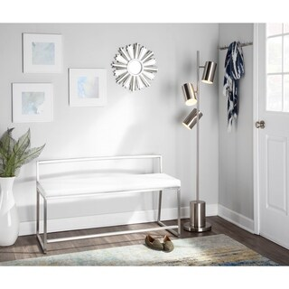 Fuji Contemporary Dining / Entryway Bench in Faux Leather