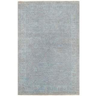 Herat Oriental Afghan Hand-knotted Over-dyed Oushak Wool Rug (4'1 x 6'1)