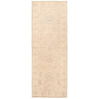 Handmade Herat Oriental Afghan Over-dyed Oushak Wool Runner - 2'6 x 6'10 (Afghanistan)