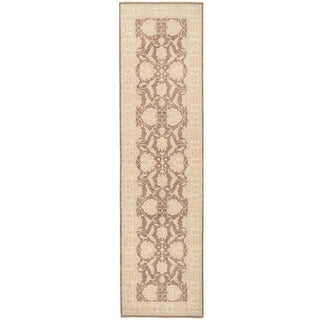 Herat Oriental Afghan Hand-knotted Over-dyed Oushak Wool Rug (4'2 x 16'2)