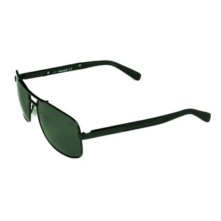 Timberland Fashion Men's TB9057 02R Matte Black Frame Polarized Grey Lens Sunglasses