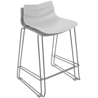 Shop Milano Stainless Steel Eco Leather Upholstered