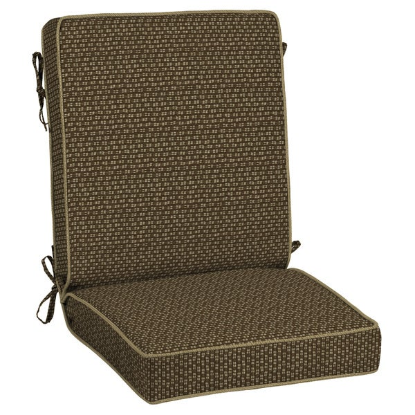 Bombay Outdoors Rhodes Texture Brown Outdoor Double Welt Chair Cushion