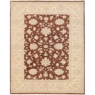 Herat Oriental Afghan Hand-knotted Over-dyed Oushak Wool Rug (5'1 x 6'2)