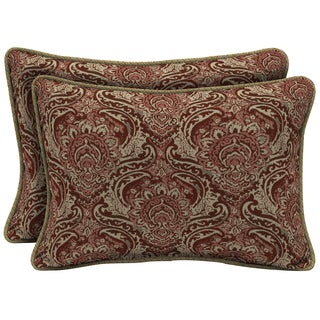 Bombay Outdoors Red Oversize Lumbar Pillow with Welt (Set of 2)