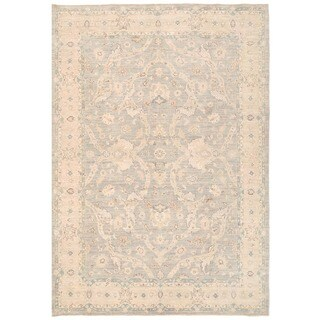 Herat Oriental Afghan Hand-knotted Over-dyed Oushak Wool Rug (6' x 8'8)