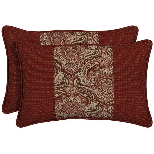 Bombay Outdoors Venice Pieced Face Lumbar Pillow (Set of 2)