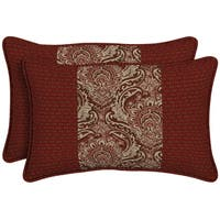Bombay Outdoors Venice Pieced Face Lumbar Pillow (Set of 2)