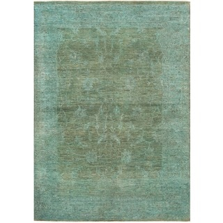 Herat Oriental Afghan Hand-knotted Over-dyed Oushak Wool Rug (4'9 x 6'9)