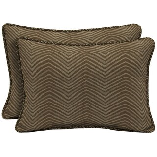 Bombay Outdoors Brown Oversize Lumbar Pillow with Welt (Set of 2)