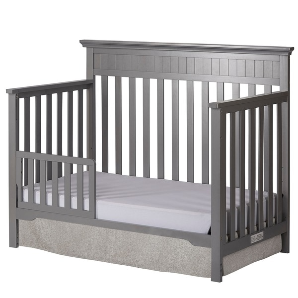 Dream On Me Universal Convertible Crib Toddler Guard Rail - Grey