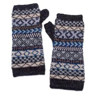 Handmade Alpaca Fingerless Gloves, 'Geometric Color' (Peru)|https://ak1.ostkcdn.com/images/products/14230474/P20821697.jpg?impolicy=medium
